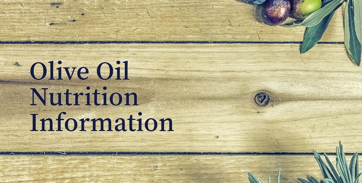 olive oil nutrition information